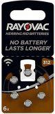Batterij Rayovac gehoor 312A -- 6-pack