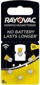 Batterij Rayovac gehoor V10A -- 6-pack