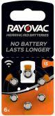 Batterij Rayovac gehoor 313A -- 6-pack