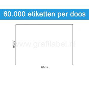 Prijsetiket wit 16x23mm - permanente belijming - doos à 50 rol à 1.200 etiketten