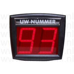 Volgnummersysteem 2-cijferig draadloos excl. afstandsbediening (alleen de display)