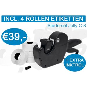 Prijstang starterset Jolly C8 incl. 4 rol etiketten + extra inktrol