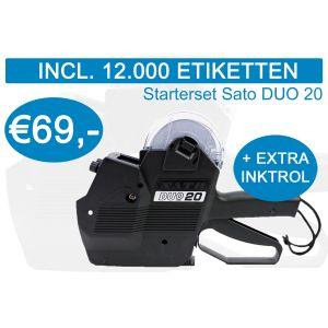 Prijstang starterset Sato Duo-20 incl. 12.000 etiketten + extra inktrol