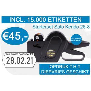 Prijstang starterset Sato Kendo 26-8 incl. 15.000 etiketten met opdruk t.h.t + extra inktrol