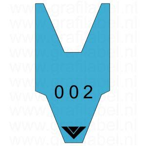 Volgnummerrol blauw met 2 x cijferreeks 0-999
