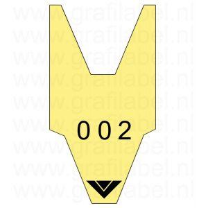 Volgnummerrol geel met 2 x cijferreeks 0-999