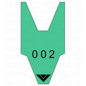 Volgnummerrol groen met 2 x cijferreeks 0-999