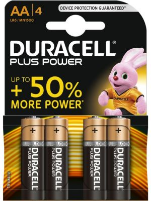 Batterij Duracell Plus Power AA (LR6) 4-pack