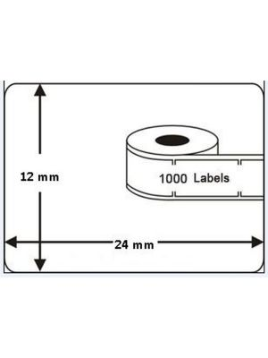 Dymo compatible label 12x24mm - 11353